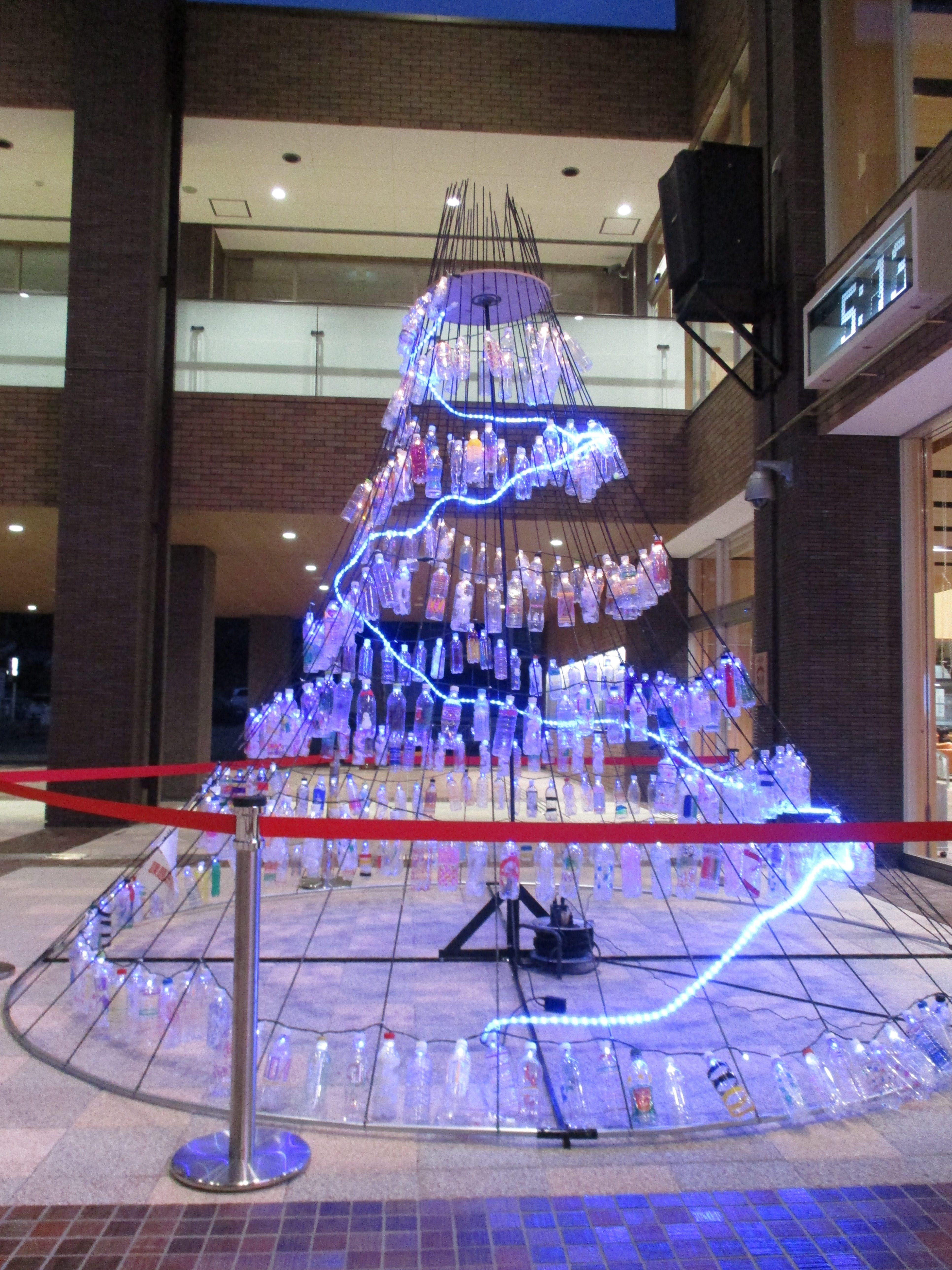江津工業生徒作成のイルミネーションが12月20日にリニュウアルこうご期待!!。